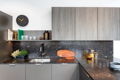 Feature Woodgrain Character Graphite Kitchen