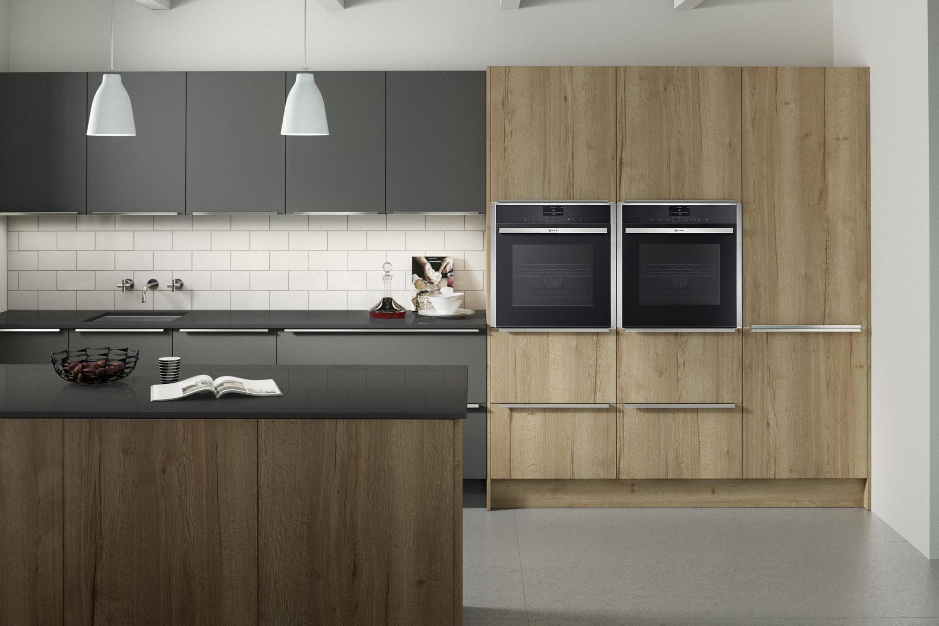 Reclaimed Oak Porter Graphite Kitchen