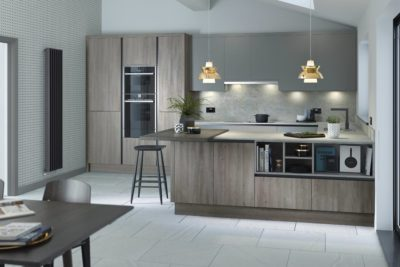 Alpina Silver Oak matt with Porter & Graphite handless trim Kitchen